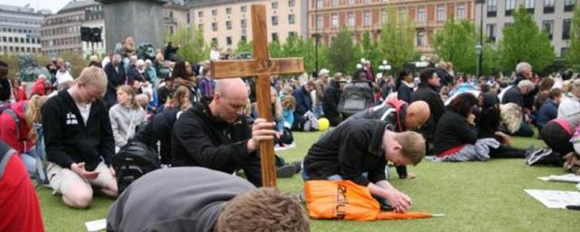 Jesusmanifestationen maj 2013 Kungsträdgården Stockholm