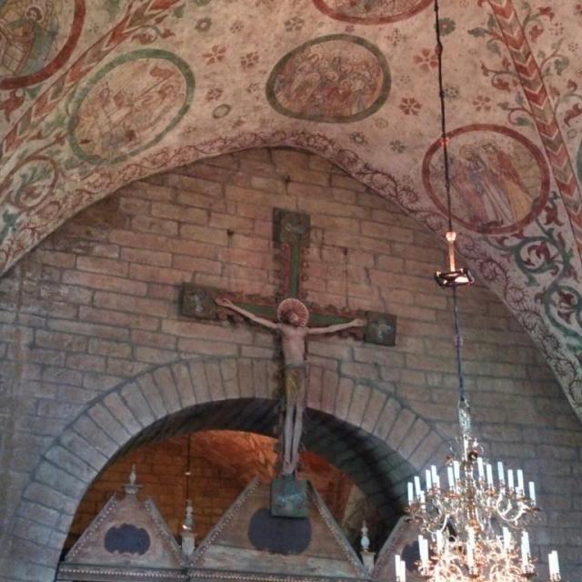Husaby kyrka, Sveriges första biskopskyrka. Krucifix från 1200-talet