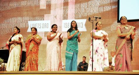 Indiska kvinnor på Europakonferensen