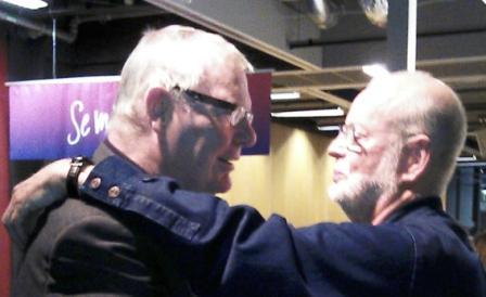Göra Skytte och K G Hammar möttes på bokmässan i Göteborg