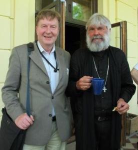 Undertecknad och Peter Halldorf vid ett möte på Bjärka Säby
