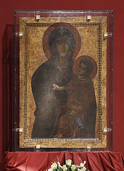 Icon of Mary, Salvation of the Roman People, seen during service at Basilica of St. Mary Major in 2011