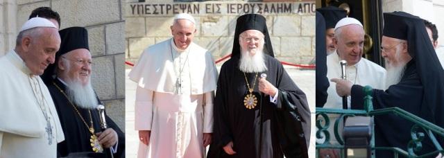Påven och Ekumeniske patriarken av Konstantinopel möttes nyligen i Jerusalem.