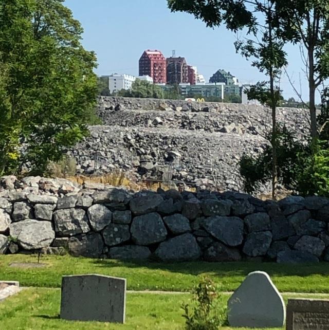 stenmassorkyrkogårdsvy